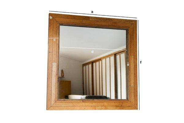 Produktdimensionen Holzspiegel Sheffield
