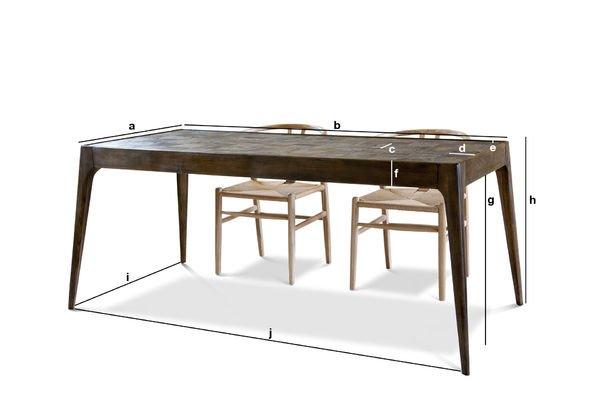 Produktdimensionen Holzstisch Tabüto