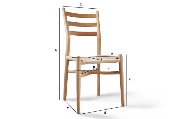 Produktdimensionen Holzstuhl Ystad