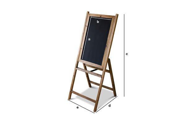 Produktdimensionen Holztafel Leon