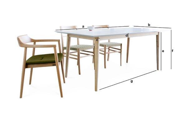 Produktdimensionen Holztisch Fjord
