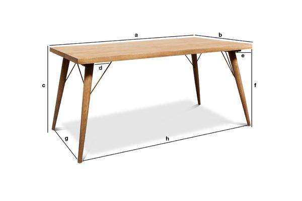 Produktdimensionen Holztisch Jotün