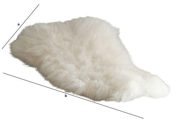 Produktdimensionen Isländisches Schafsfell