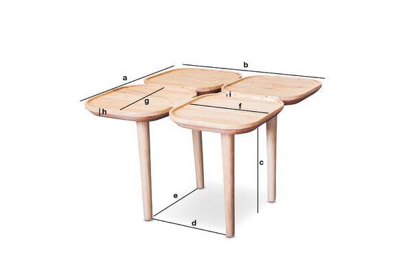 Produktdimensionen Kädri Beistelltisch aus Holz