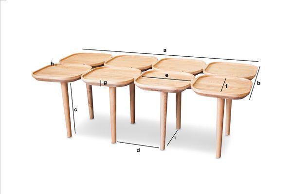 Produktdimensionen Kädri Couchtisch aus Holz