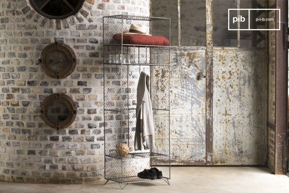 Der Kleiderschrank aus Gitter Ontario ist ein Möbelstück zum Aufbewahren verschiedenster Gegenstände