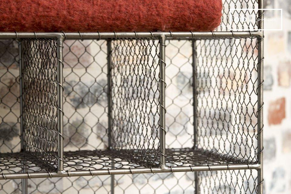 Der Kleiderschrank aus Gitter Ontario ist ein Möbelstück zum Aufbewahren verschiedenster