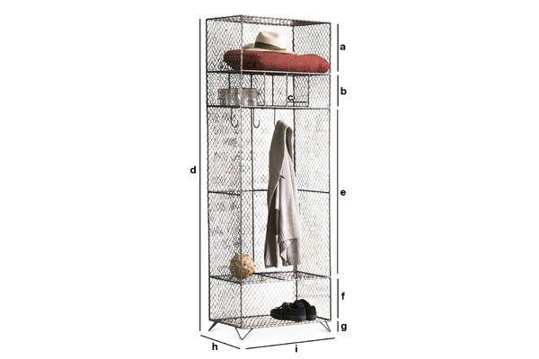 Produktdimensionen Kleiderschrank aus Gitter Ontario