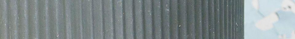 Materialbeschreibung Kleine Gießkanne aus Wellblech