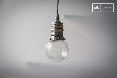 Kleine Silber Hängeleuchte Darwin
