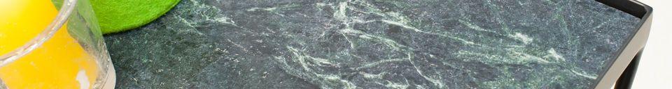 Materialbeschreibung Kleiner Bumcello-Tisch aus grünem Marmor