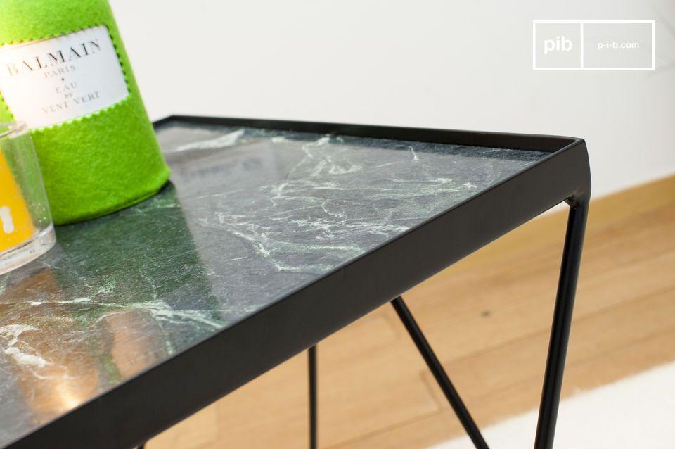Kleiner Bumcello Tisch Aus Grunem Marmor Pib