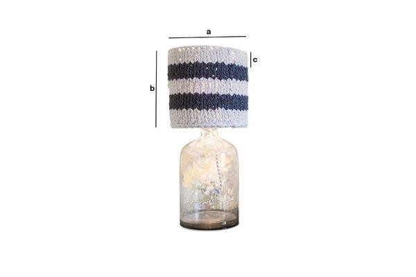 Produktdimensionen Kleiner Lampenschirm Paimpol Grau