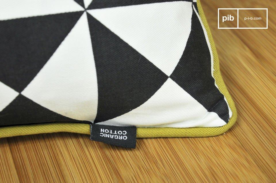 Zur Gänze aus Bio-Baumwolle bestehendes kleines Kissen mit dem  Vintage-Style  der 50er Jahre