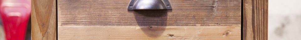 Materialbeschreibung Kommode Buick 3 große Schubladen
