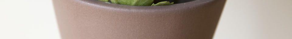 Materialbeschreibung Korsett  Keramikvase Rostfarbe