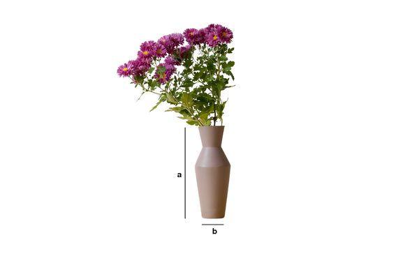 Produktdimensionen Korsett  Keramikvase Rostfarbe