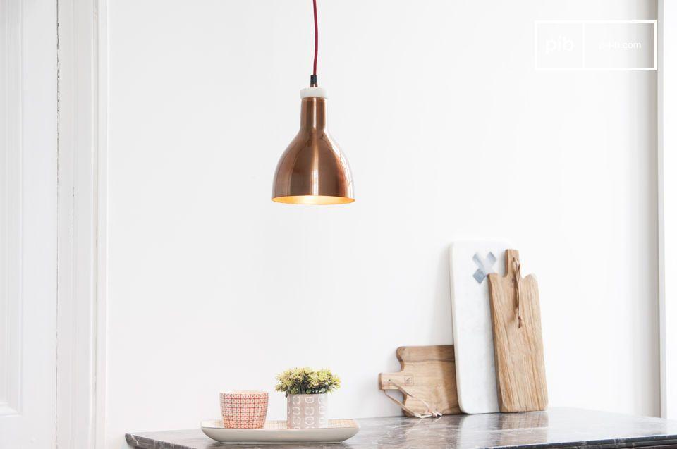 kupfer designerlampe bidart eine kleine marmor lampe pib. Black Bedroom Furniture Sets. Home Design Ideas
