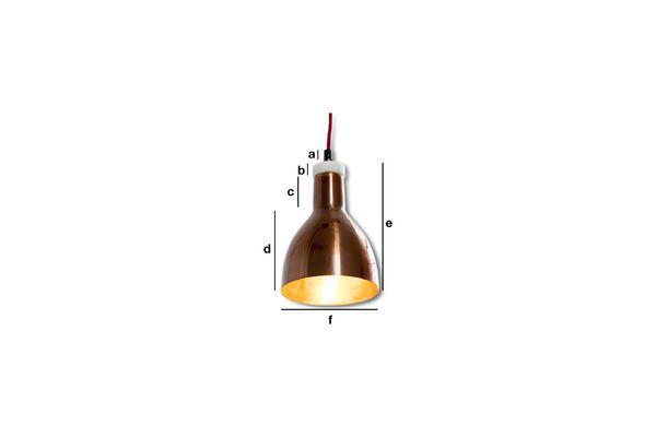 Produktdimensionen Kupfer Designerlampe Bidart