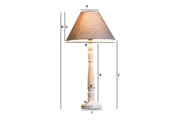 Produktdimensionen Lampe aus Holz Alix