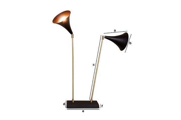 Produktdimensionen Lampe Double Black