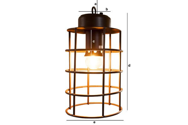Produktdimensionen Lampe Nautilus
