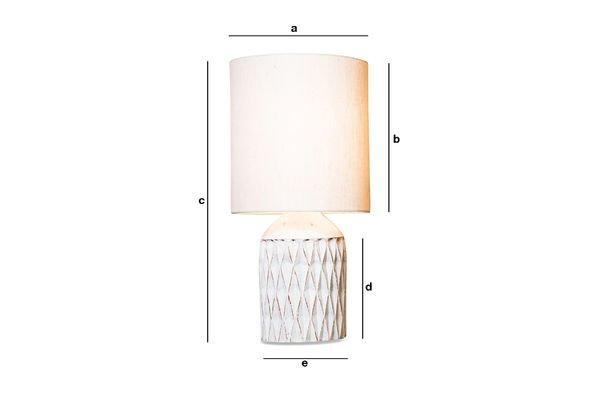 Produktdimensionen Lampe Roméo