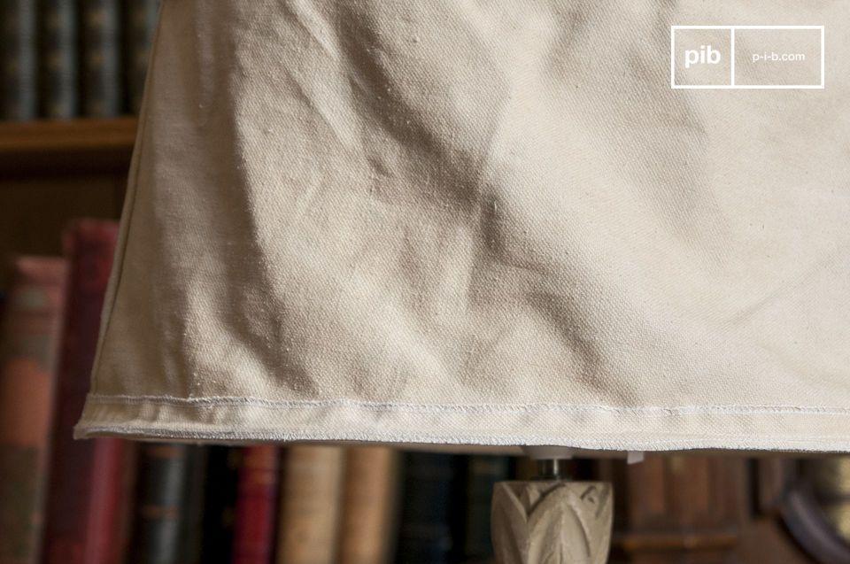 Lampenschirm mit Charme aus recyceltem Leinen, 45 cm Durchmesser