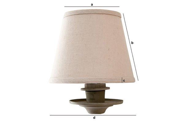 Produktdimensionen Lampenschirm Mistral