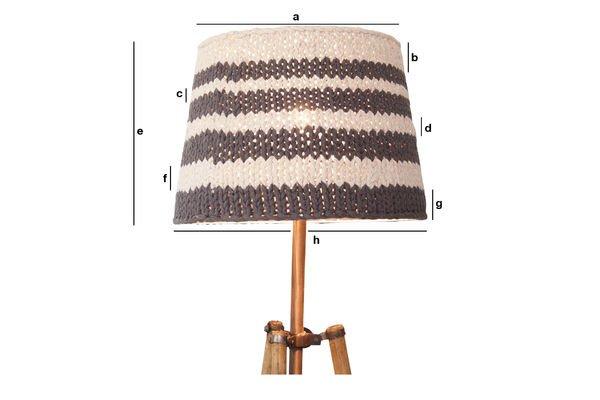 Produktdimensionen Lampenschirm Paimpol Grau