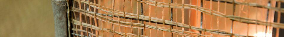 Materialbeschreibung Laterne aus Bambusgeflecht