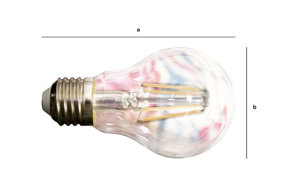 Produktdimensionen Led Glühbirne 6cm alten Filament Weg