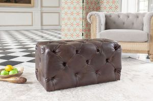 Lederpuff Dark Chesterfield