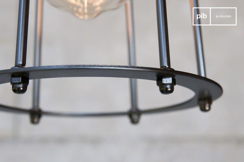 Dekorative Lampe zum Aufhängen im Industriellen-Chic