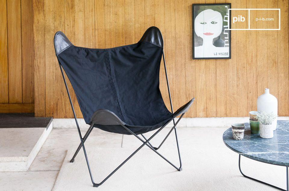 Leinwand Sessel Black Colina