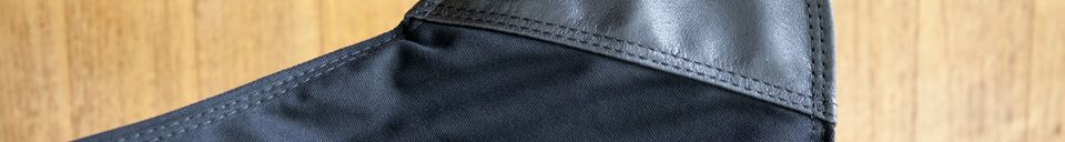 Materialbeschreibung Leinwand Sessel Black Colina