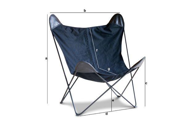 Produktdimensionen Leinwand Sessel Black Colina