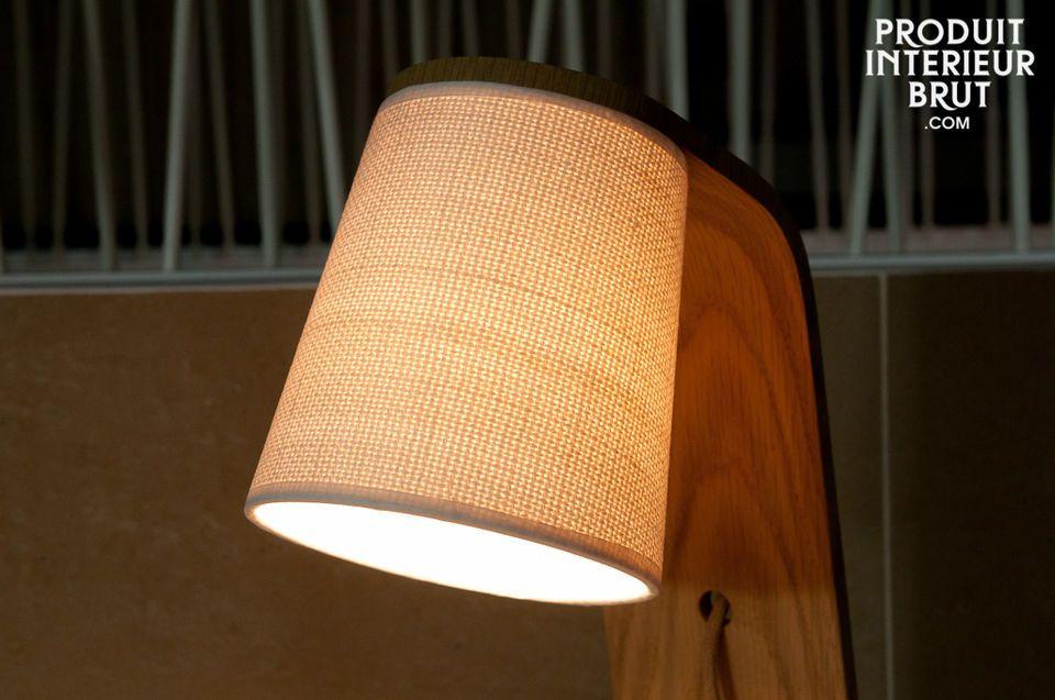 Schlichte Schönheit bei dieser Beleuchtung aus gerundetem Massivholz