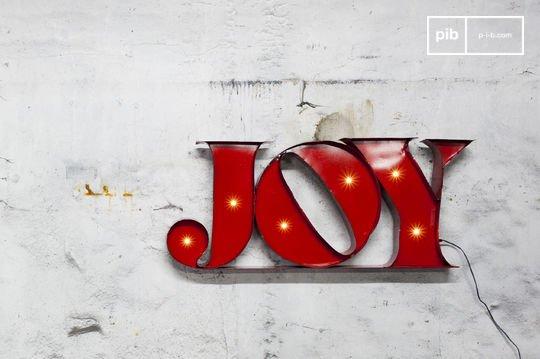 Leuchtschild Joy