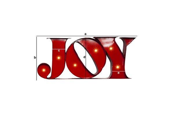 Produktdimensionen Leuchtschild Joy
