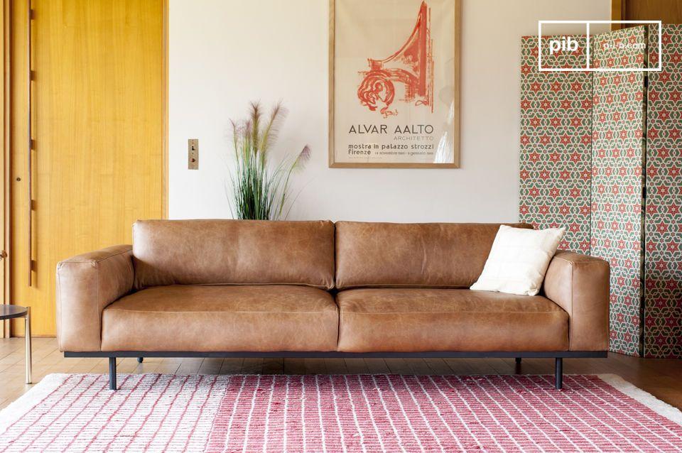 Mandel 3-Sitzer Sofa braun - 8