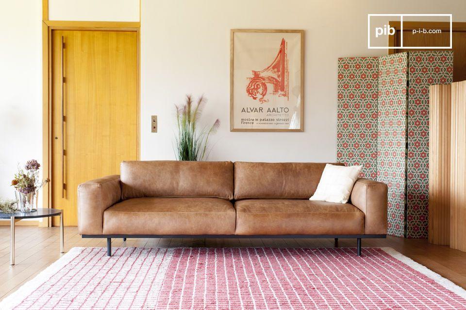 Mandel 3-Sitzer Sofa braun