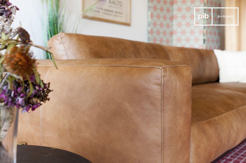 Mandel 3-Sitzer Sofa braun - 7