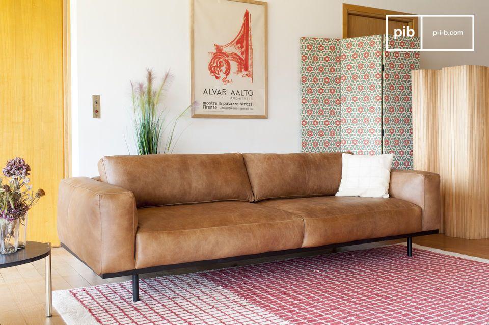 Mandel 3-Sitzer Sofa braun - 5