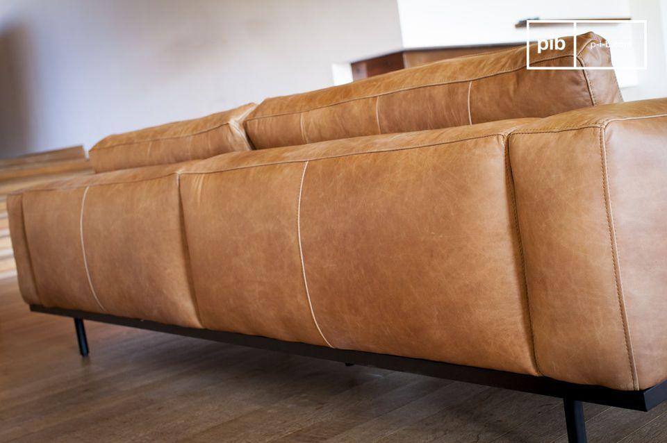Mandel 3-Sitzer Sofa braun - 4