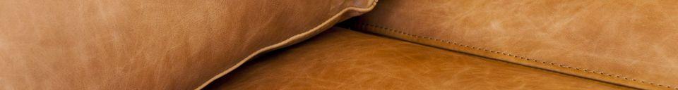 Materialbeschreibung Mandel 3-Sitzer Sofa braun