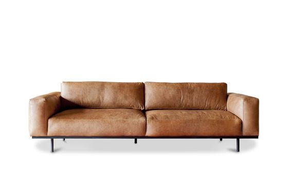 Mandel 3-Sitzer Sofa braun ohne jede Grenze