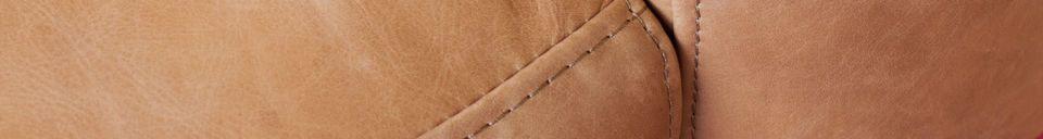 Materialbeschreibung Mandel-Sessel aus braunem Leder