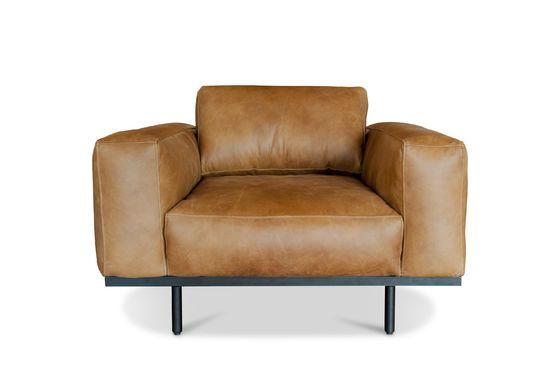 Mandel-Sessel aus braunem Leder ohne jede Grenze