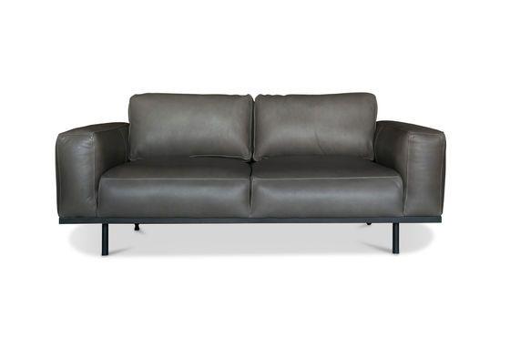 Mandel Sofa aus grauem Leder ohne jede Grenze